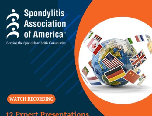 Sommet mondial sur la spondyloarthrite du 6 au 8 mai 2021