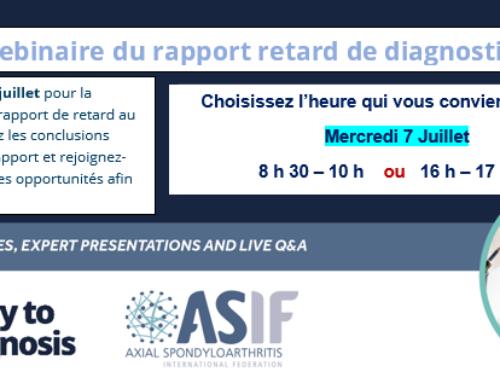 «Webinaire», Lancement virtuel du rapport de retard de diagnostic de l'ASIF.
